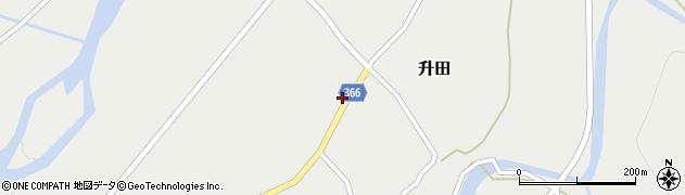 山形県酒田市升田野向16周辺の地図