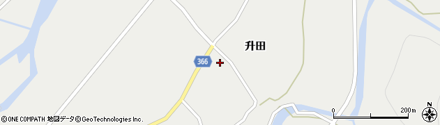 山形県酒田市升田沼田30周辺の地図