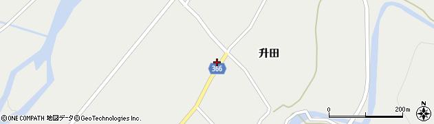 山形県酒田市升田野向54周辺の地図