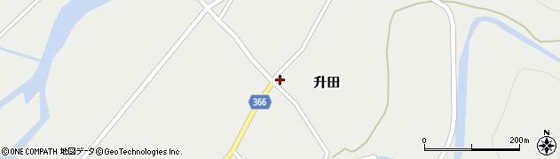 山形県酒田市升田大石1周辺の地図