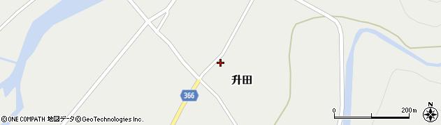 山形県酒田市升田沼田54周辺の地図