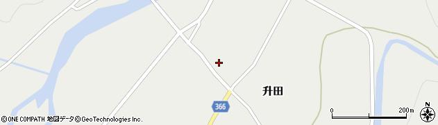山形県酒田市升田大石5周辺の地図