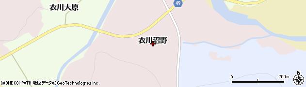 岩手県奥州市衣川沼野周辺の地図