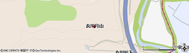 岩手県奥州市衣川月山周辺の地図
