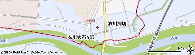 岩手県奥州市衣川押切周辺の地図