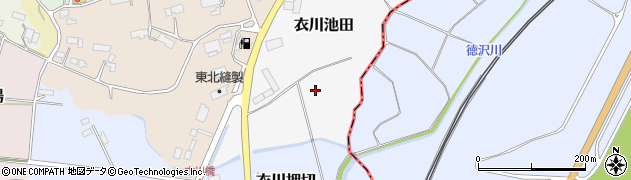 岩手県奥州市衣川池田周辺の地図