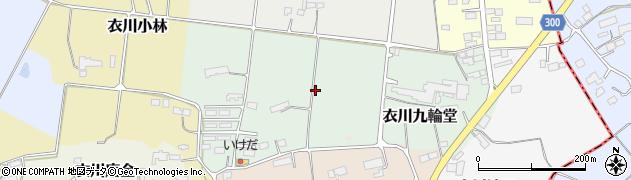 岩手県奥州市衣川九輪堂周辺の地図
