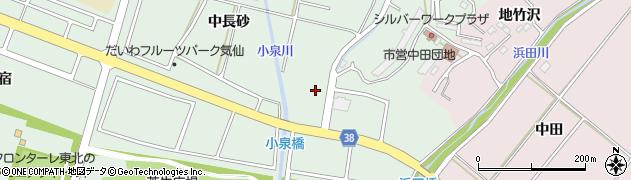 岩手県陸前高田市高田町中田周辺の地図