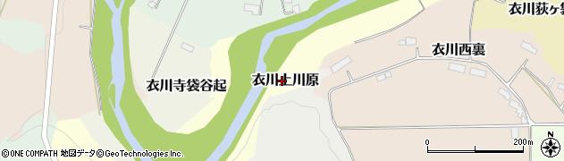 岩手県奥州市衣川上川原周辺の地図