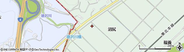 岩手県奥州市前沢沼尻周辺の地図