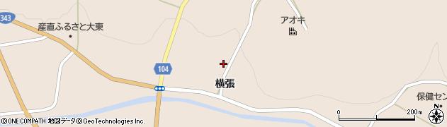 岩手県一関市大東町渋民(横張)周辺の地図