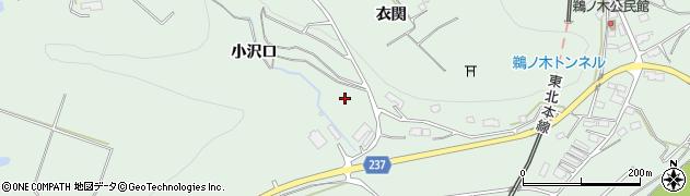 岩手県奥州市前沢(小沢口)周辺の地図