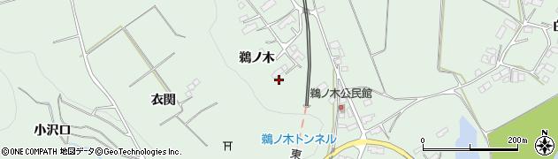 岩手県奥州市前沢(鵜ノ木)周辺の地図