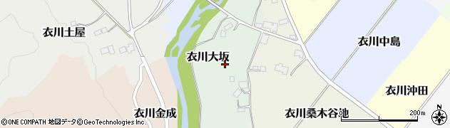 岩手県奥州市衣川大坂周辺の地図