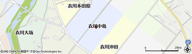 岩手県奥州市衣川中島周辺の地図