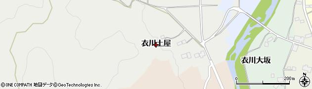 岩手県奥州市衣川土屋周辺の地図