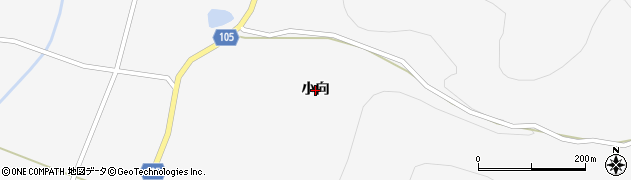 岩手県一関市大東町猿沢(小向)周辺の地図