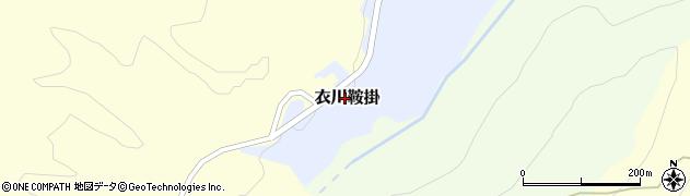 岩手県奥州市衣川鞍掛周辺の地図