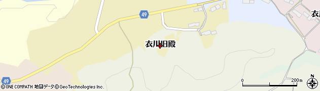 岩手県奥州市衣川旧殿周辺の地図