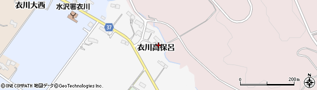 岩手県奥州市衣川高保呂周辺の地図