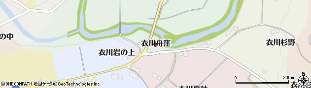 岩手県奥州市衣川舟窪周辺の地図