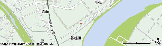 岩手県奥州市前沢(谷起田)周辺の地図