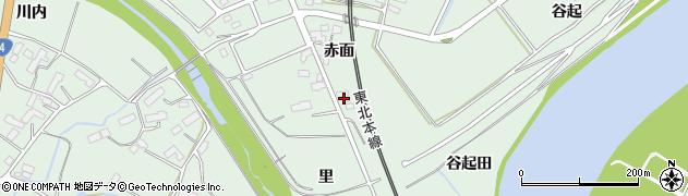 岩手県奥州市前沢(里)周辺の地図