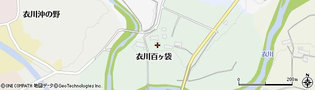 岩手県奥州市衣川百ヶ袋周辺の地図