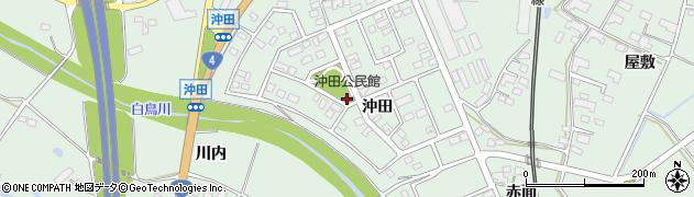 岩手県奥州市前沢(沖田)周辺の地図