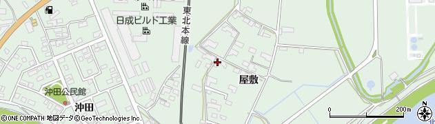 岩手県奥州市前沢(屋敷)周辺の地図