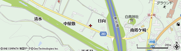 岩手県奥州市前沢(中屋敷)周辺の地図