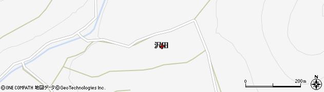 岩手県一関市大東町猿沢沢田周辺の地図