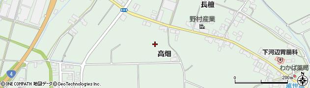 岩手県奥州市前沢(高畑)周辺の地図