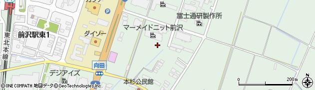 岩手県奥州市前沢(本杉)周辺の地図