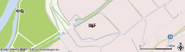 岩手県奥州市前沢生母(舘下)周辺の地図