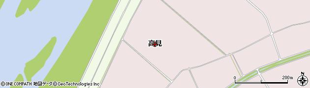 岩手県奥州市前沢生母(高見)周辺の地図