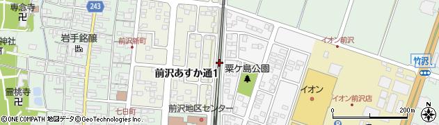 岩手県奥州市前沢(粟ケ島)周辺の地図