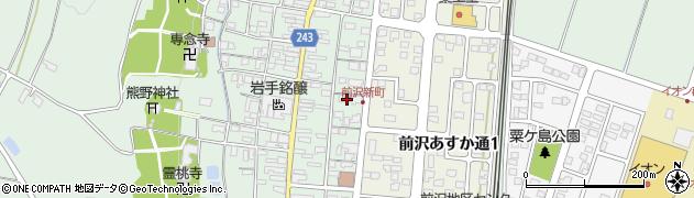 岩手県奥州市前沢(新町裏)周辺の地図