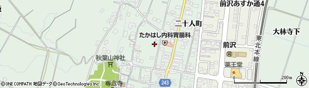 岩手県奥州市前沢周辺の地図
