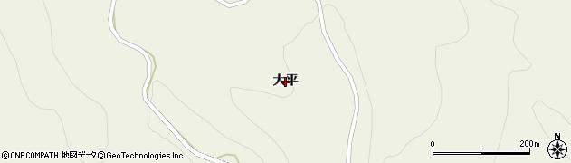岩手県一関市大東町沖田(大平)周辺の地図