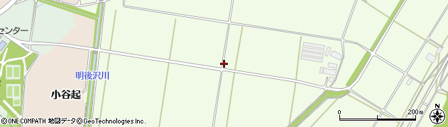 岩手県奥州市前沢白山(天王谷起)周辺の地図