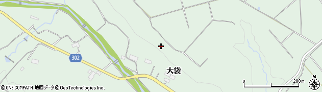 岩手県奥州市前沢(大袋)周辺の地図