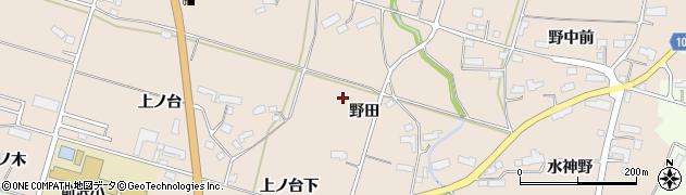 岩手県奥州市前沢古城(野田)周辺の地図