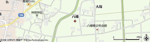 岩手県奥州市前沢白山(八幡)周辺の地図