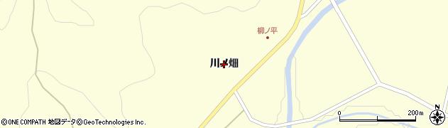 岩手県一関市大東町中川(川ノ畑)周辺の地図