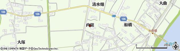 岩手県奥州市前沢白山(内舘)周辺の地図