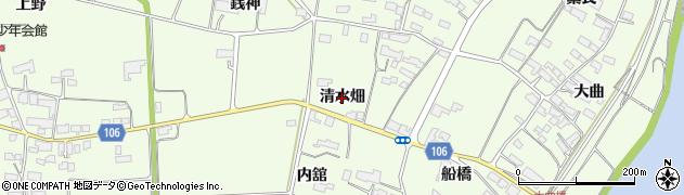 岩手県奥州市前沢白山(清水畑)周辺の地図