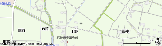 岩手県奥州市前沢白山(上野)周辺の地図