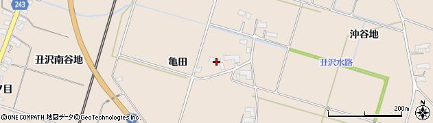 岩手県奥州市前沢古城(亀田)周辺の地図