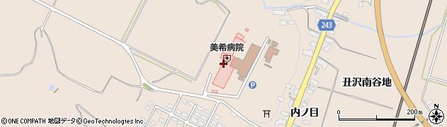 岩手県奥州市前沢古城(丑沢上野)周辺の地図